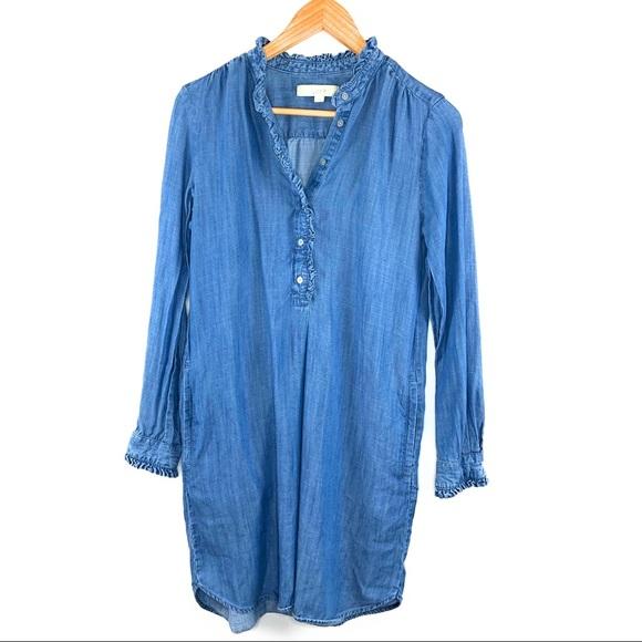 d63049ca63 LOFT Dresses   Skirts - Loft Chambray Denim Shift Dress with Pockets